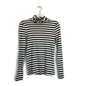 J Crew classic striped turtle neck size small